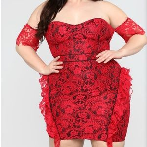 Dresses & Skirts - Red lace dress